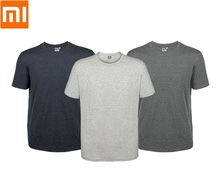 Xiaomi Home Camiseta holgada de algodón para hombre, ropa suave y delicada, transpirable, de manga corta para verano