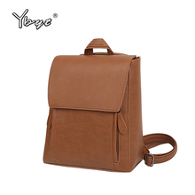 YBYT brand 2017 new vintage casual preppy style PU leather women rucksack hotsale ladies travel bags student school backpacks