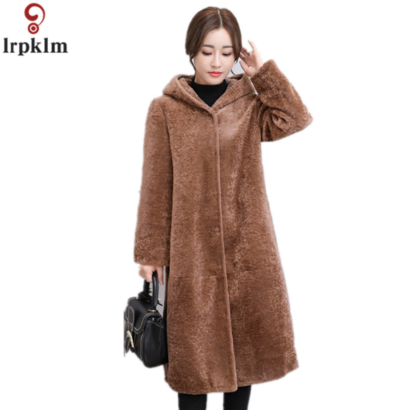 Women's Wool Coat Long Cashmere Jackets 2018 Winter Autumn Ladies Coats Plus Size 4XL Loose Overcoats For Female CH561
