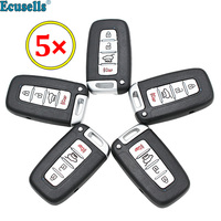 5pcs/lot 4 button Remote Key Keyless Shell Housing For Hyundai Genesis Sonata Azera Elantra for KIA Forte Optima uncut key