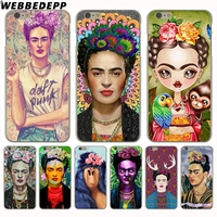 WEBBEDEPP Fab Ciraolo Frida Kahlo Cover Case for iPhone 6 6S Hard Cases Plastic Back Clear