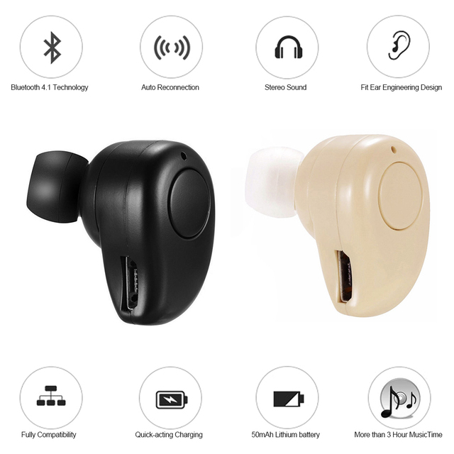 invisible bluetooth music headset