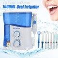 1000 ML Elétrica Nicefeel Jet Flosser Dental Elétrica Série Família Limpador de Dentes Higiene Bucal Flosser Água Irrigador de Energia Plugue DA UE