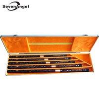 5Pcs/set Bamboo Flute Professional Woodwind Musical Instrument Chinese Dizi Transverse Flauta C/D/E/F/G With Aluminum Alloy Case