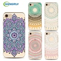 Para iphone 7 mandala case pintado phone case tpu para iphone 6 s case para 7 plus 6 s plus 5S case capa shell telefone slim Fundas