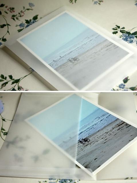 50ピース/ロット新韓国ヴィンテージブランク半透明ベラム封筒diy多機能ovelyギフト