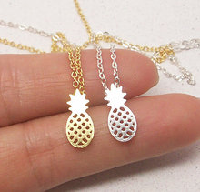 2016 New Fashion Necklace Zinc Link Chain Pineapple Necklace Everyday Fruit Pineapple Pendant Necklaces for Women Party Gift