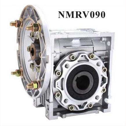 80:1 or 100 :1 NMRV090 Worm Reducer Worm Gearbox 19mm 24mm 28mm input shaft 90 Degree Speed Reducer RV090