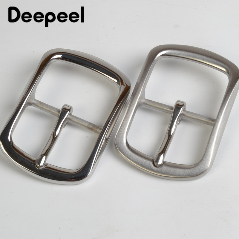 Deepeel 40mm Stainless Steel Belt Buckle Metal Pin Buckles For Belt 38-39mm DIY Leather Craft Jeans Accessories Hardware BD253