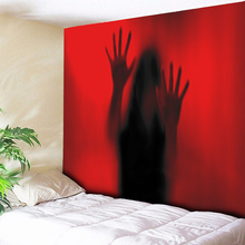 Red Halloween Tapestry Wall Hanging Art Ghost Print Tapestry Terror Scream Home Decor Living Room Bedroom Wall Rug Carpet 3 Size wall hanging art decor corroded wall print tapestry