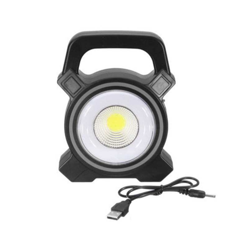 Portable USB Rechargeable Solar COB Work light Solar Lamp LED Spot Flood Light Outdoor Lecture Lamp Camping Lantern DC 5V 30W 30w outdoor lantern portable l2 flood light lamp led rechargeable camping hiking torch 3 modes