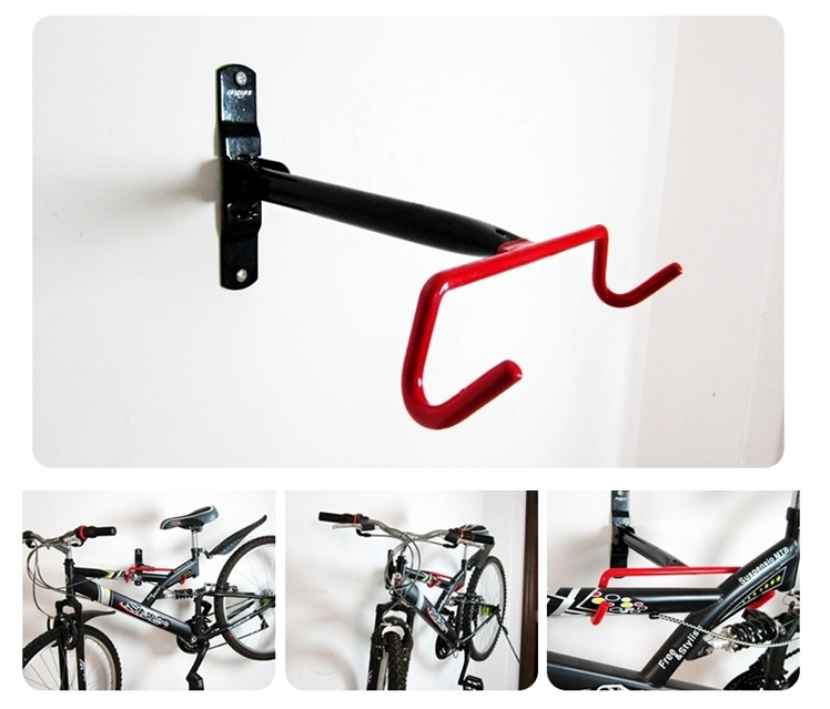 Bicycle Stands For Garage #30: Bicycle Compact Design Garage Wall Bike Storage Rack Mount Hanger Hook Designer Solid Steel Bicycle Hook
