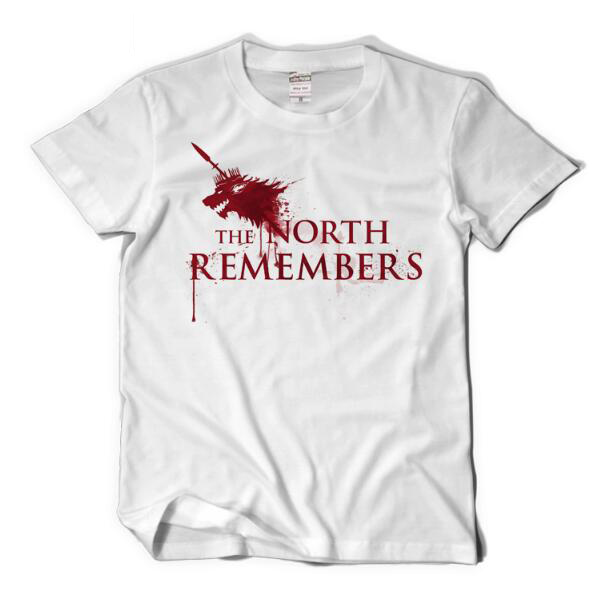 Game of thrones Mens print t shirt The North Remebers loose style summer T-shirt plus size fine cotton tee cosplay womens shirt
