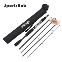 1 98m 6 6ft 118g Professional Carbon Lure Rod Sections Spinning Rod Portable Short Fishing Rod