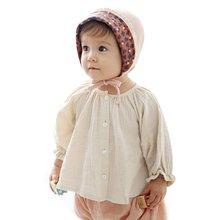 Baby Girls Crewneck Casual Tops Newborn Toddler Long Sleeve Shirt Top Kids Clothes autumn spring