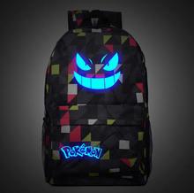 Galaxy leucht druck rucksack pokemon gengar rucksäcke schultaschen für teenager mädchen mochila feminina l97