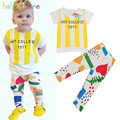 2PCS/0-5Years/Summer Children Clothing Sets For Kids Tracksuit Casual Stripe Short Sleeve T-shirt+Pants Baby Boys Clothes BC1256