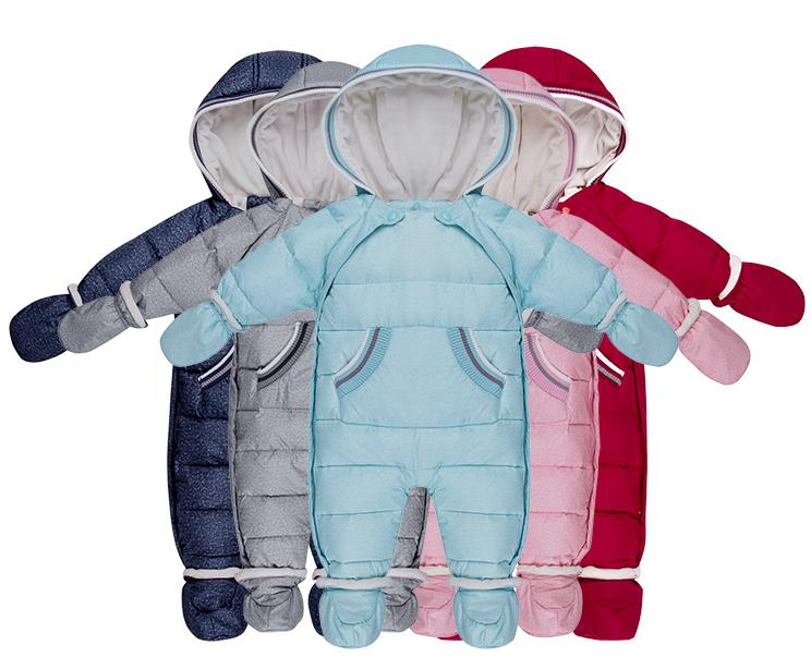 Baby Down Jacket 0-1 Year Old Down Jacket Conjoined Hooded Suit, Baby Boys Girls Duc Down Jumpsuit In Autumn And Winter 2017 winter coat grandma installed in the elderly women 60 70 80 years old down jacket old lady tang suit