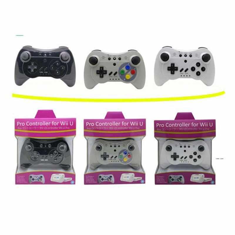 Серый Bluetooth Joypad беспроводной джойстик пульт дистанционного управления для wii U Pro беспроводной контроллер работает Ретро геймпад SNES