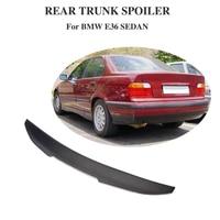 Задний спойлер для BMW 3 серии E36 Sedan 1991-1998 углеродное волокно багажник крыла губ протектор крышка ботинка
