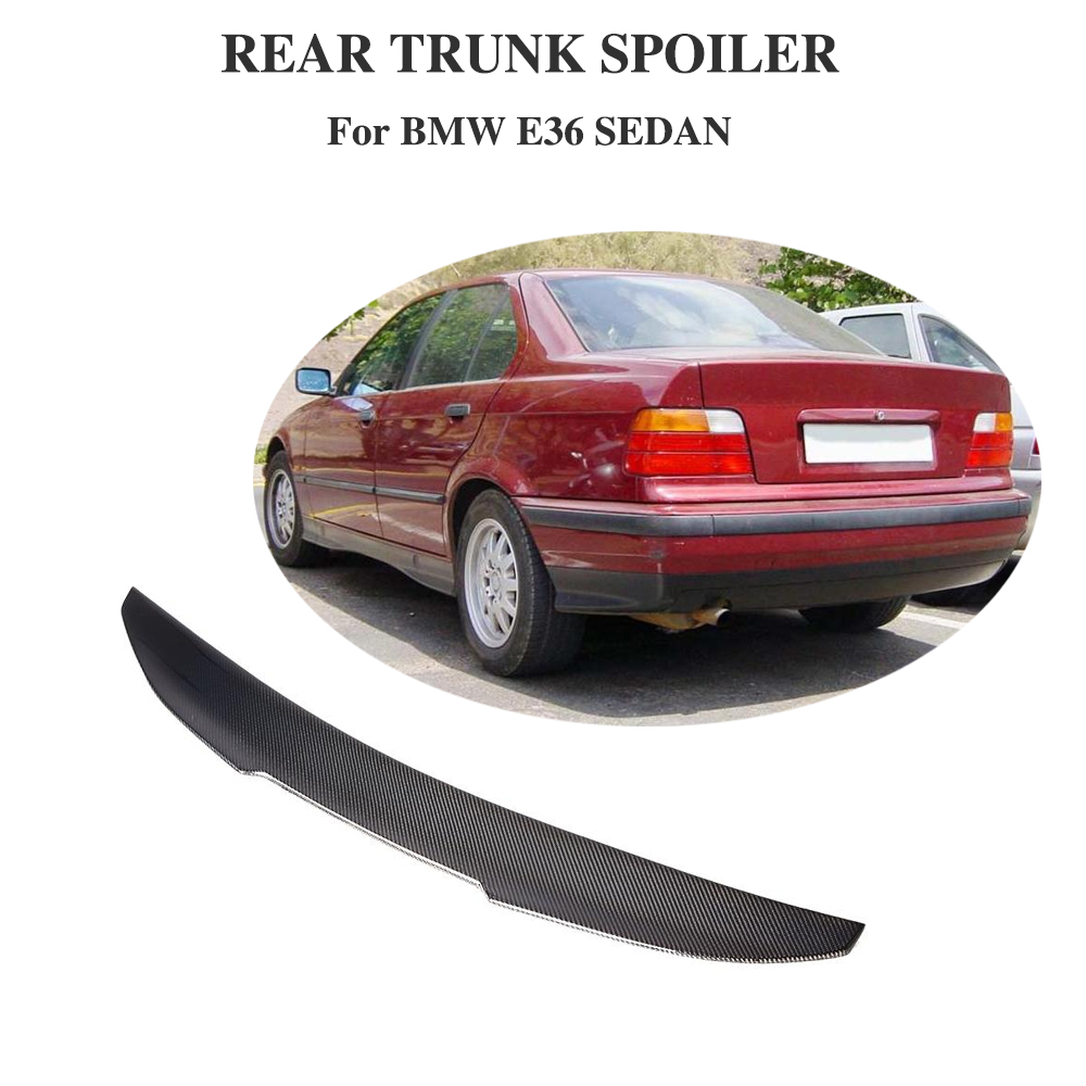 Rear Spoiler for BMW 3 Series E36 Sedan 1991 - 1998 PSM Style Style Carbon Fiber Trunk Lip Wing Protector Boot LidRear Spoiler for BMW 3 Series E36 Sedan 1991 - 1998 PSM Style Style Carbon Fiber Trunk Lip Wing Protector Boot Lid