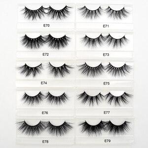 Image 5 - 50 Pairs Free DHL Visofree 25mm Lashes Dramatic Mink Lashes Soft Long 3D Mink Eyelashes Crisscross Full Volume Eye Lashes Makeup