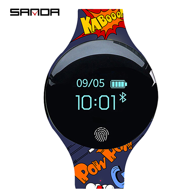 SANDA Sport Bluetooth Smart Touch Watch Men Silicon Remote Camera Watches Digital Inteligente Watch IOS Android Pedometer