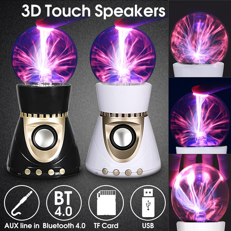Global électrostatique Ion magique 3D lampe Surround son Subwoofer sans fil Bluetooth haut-parleur boule Disco lampe RGB lumière LED