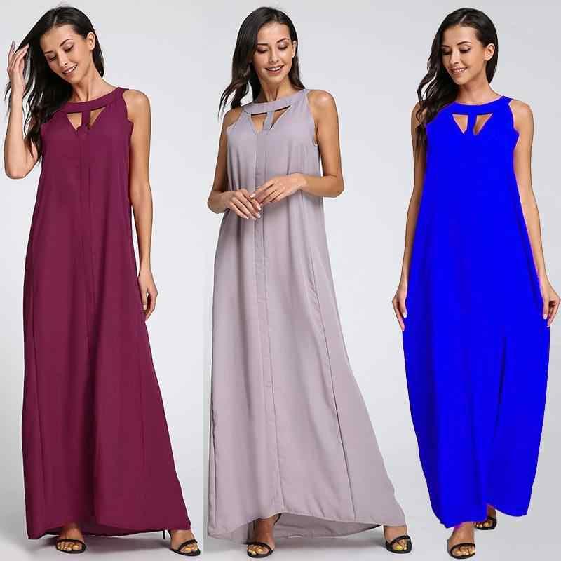 2020 Celmia ฤดูร้อน Bohemian Beach Dress ผู้หญิงเซ็กซี่ Maxi ชุดยาวแบบสบายๆสุภาพสตรีชีฟอง Vestidos Robe
