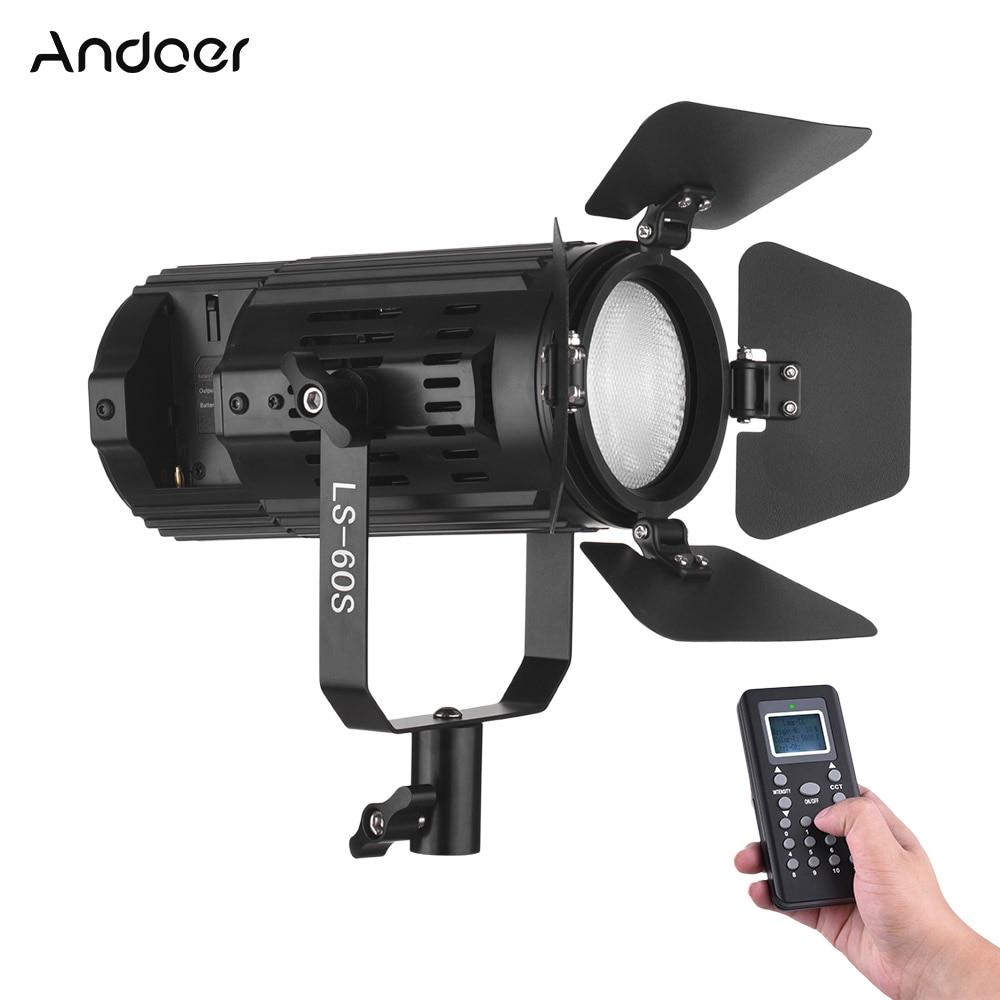 Andoer LS 60S 3200K 5600K Bi Color Dimmable LED Video Light 60W Output CRI 95 w
