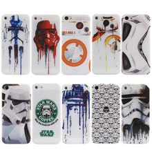 Star Wars Phone Case For iphone 6 6S 7 8 Plus SE 5S 5 Silicone Soft Cool Robot Coffee Pattern For iphone 7 8 Cover Funda(China)