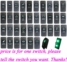 For Carling ARB Narva 4×4 Style Rocker Switch Green Led Light Bar ON OFF/ ON OFF ON 12V Car Boat Truck Caravan Toggle Switch