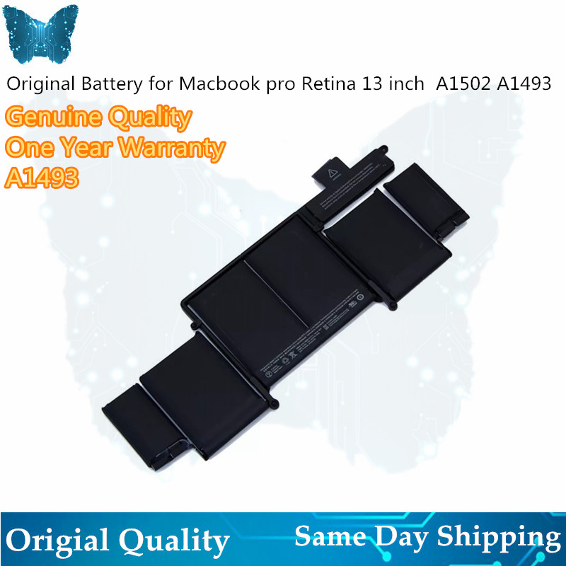 "Wholesale A1493 battery for MacBook Pro 13"" 2013 Retina A1502 battery ME864LL/A ME866LL/A ME865LL/A MGX72 ME864 ME866-in Laptop Batteries from Computer & Office"