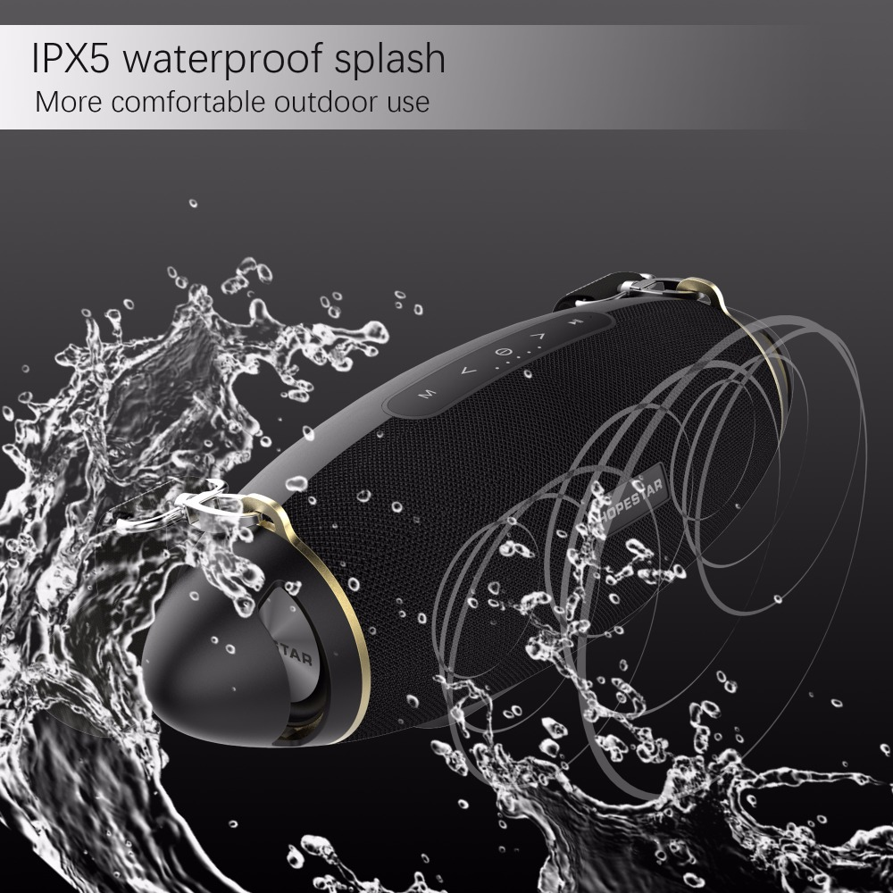 HOPESTAR H20 Bluetooth Speaker Super Bass Column Wireless Portable boom box Waterproof Stereo Outdoor Subwoofer Support USB TF in Portable Speakers from Consumer Electronics