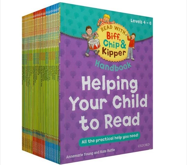 25 livres/ensemble Oxford lecture arbre avec Biff, Chip & Kipper livre à main aider votre enfant pratique enfants livre d'images anglais