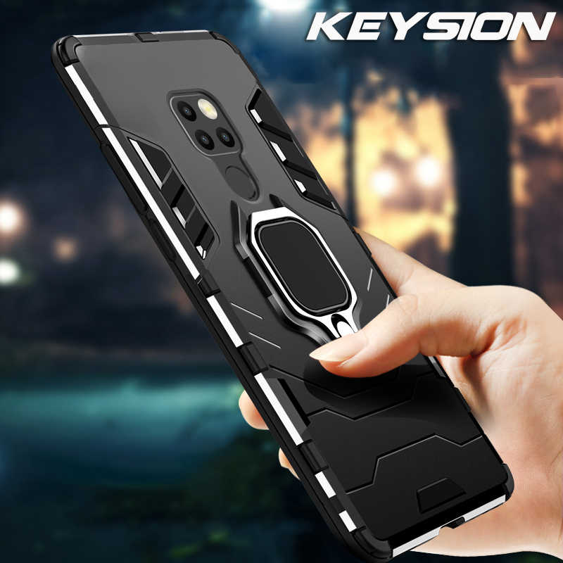Keysion Phone Case untuk HUAWEI Mate 20 Pro P30 Lite P20 Hibrida Hard PC TPU Silikon Shockproof Cover untuk Y6 y7 Y9 P Smart 2019