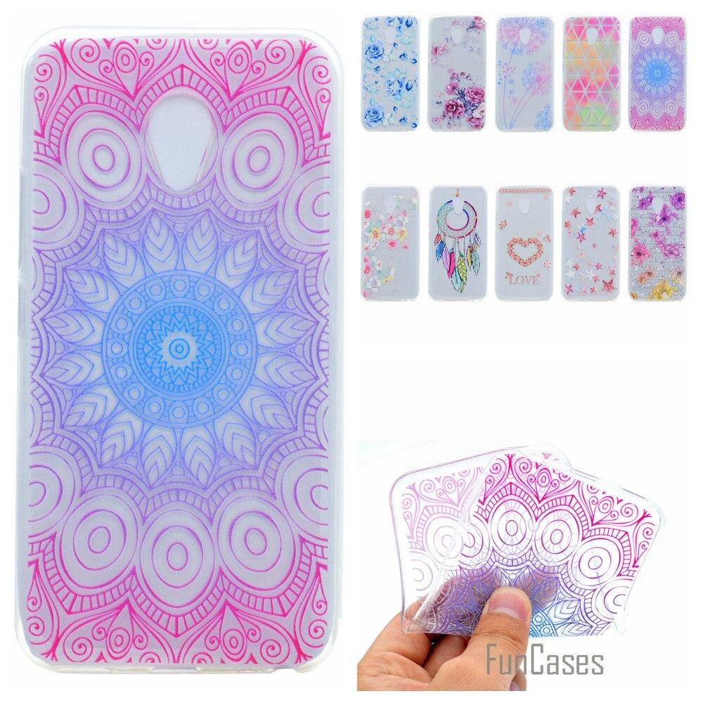 Cute Phone Case For Meizu M3 Coque Flower Dandelion Style Soft TPU Capa For Meizu M3 Funda Rose Wind Chime Back Cover accessorie