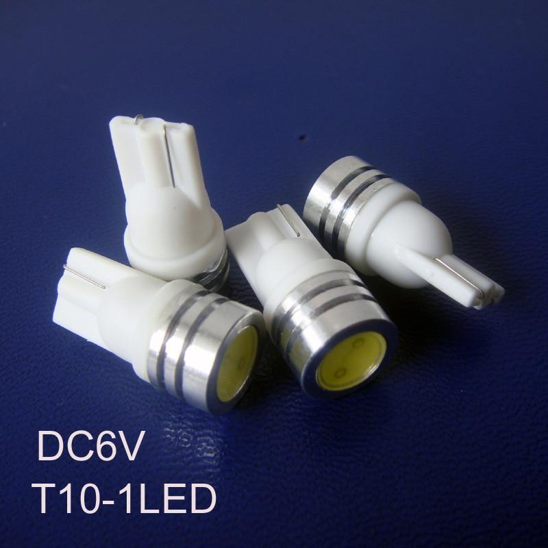 High quality 1w 6v led pilot lamp T10 w5w 194 168 car bulb 6.3v led indicator lights free shipping 5pcs/lot
