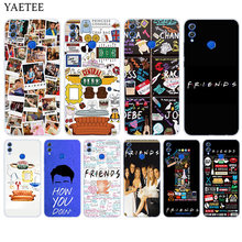 Soft Silicone Phone Back Case For Huawei Honor 9 8 10 lite 7X 6A 6X 6C Pro 8X Play 9i 9N 7S 8C 7A Pro Cover Friends Together(China)