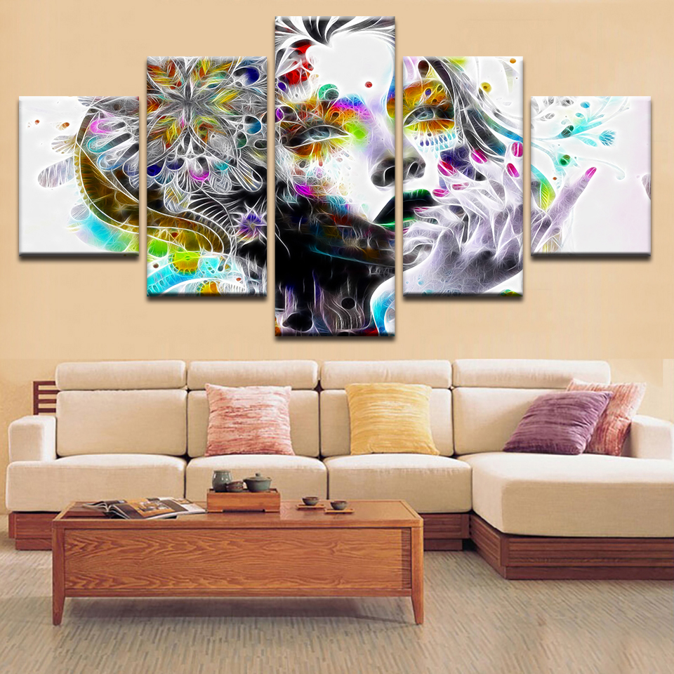 hd prints modular pictures for bedroom psychedelic girl