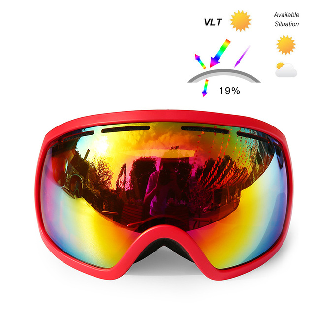 d48d63abe2 UV400 Protection Winter Ski Goggle Dual Lens Snowboard Goggles OTG  Sunglasses Anti-fog Snow Skating
