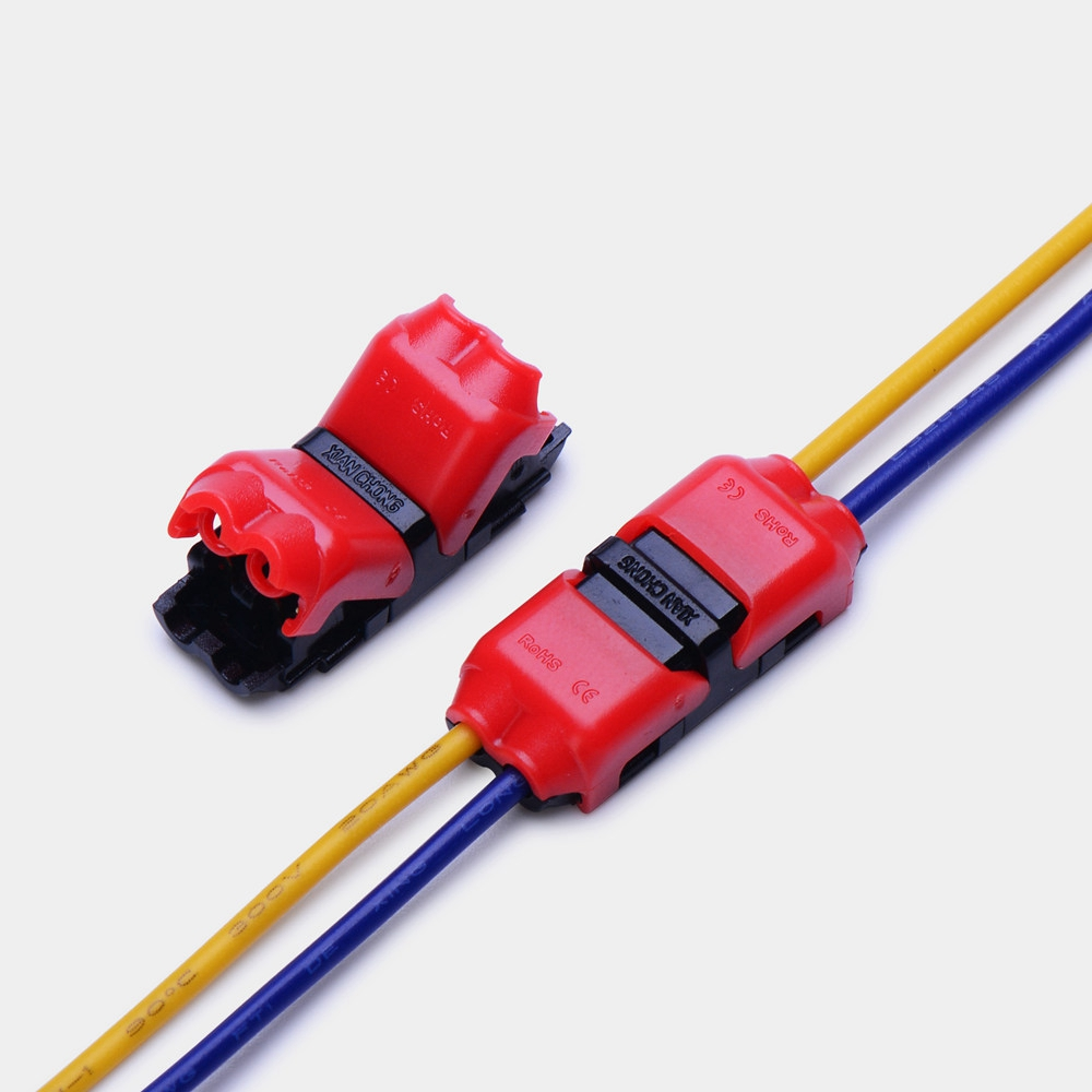 5pcs I Shape Quick Splice Wire Wiring Electrical Connector for 2 Pin 22-20 AWG LED Strip Cable Crimp Terminal Blocks Conductor 30meters white 28awg ul1007 cable electronic wire to internal wiring electrical wires diy cables 100ft 28 awg