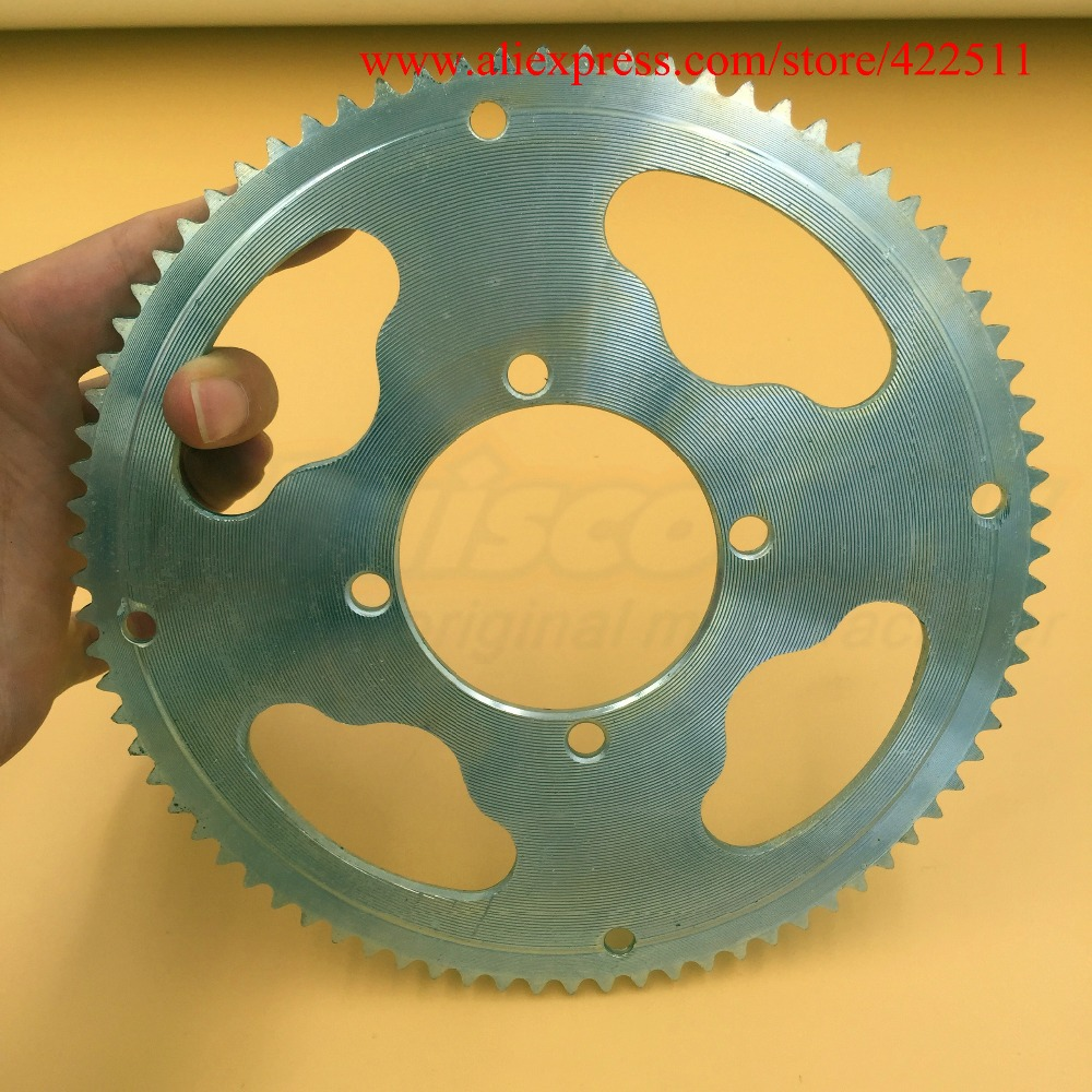 Mbajtës i zinxhirit 25H 80Teeth Skuter me 54 mm Dia. Scooter Electric / Gas Scooter Re-Sprocket Flywheel Chate-Plate (Pjesë rezerve të skuterit)