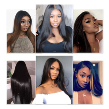 Lace Front Human Hair Wigs Indian Straight Pre Plucked With Baby Hair Lace Front Wig for Black  Women Remy Hair