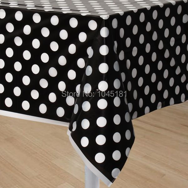 Aliexpress.com : Buy 200pcs/lot Plastic Party Table Cloth Outdoor Banquet  Wedding Party Supplies Polka Dot Design Tablecloth From Reliable  Tablecloths Black ...
