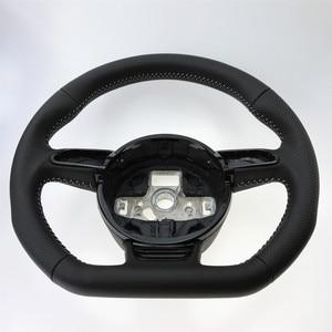 Image 3 - NoEnName_Null  for Audi A3 A4 A5 A6 A7 Q3 Q5 Q7 fully perforated steering wheel flat bottom steering wheel campaign