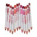12 Unids/lote 12 Colores/Set Impermeable Delineador de Labios Lápiz Delineador Labial lápiz Herramientas de Maquillaje Profesional de Larga Duración