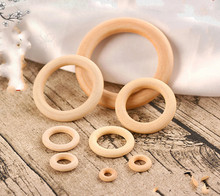 DIY ornament accessories Wood Bead wood ring buckle