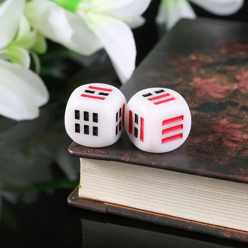 New 10Pcs D6 Dices For Easy Fortune-Telling Guess Divination Dice Ba Gua Eight Trigrams Parts Accessory 16mm qiang