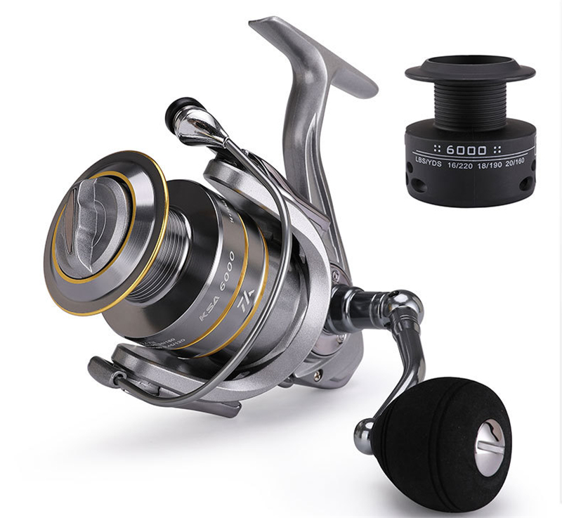 High-Quality Fishing Reel With Non-Slip Bottom And Metal Spool For Saltwater 24